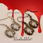 FUNKY HALLOWEEN STYLE EARRINGS DRACULA HORROR KITSCH SPOOKY SCARY FANCY DRESS UP