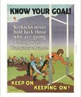 Know Your Goal! inspirational poster rugby CANVAS choose SIZE, from 55cm up, NEW