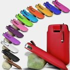 PU LEATHER PULL TAB POUCH + MINI STYLUS FOR APPLE IPHONE 4 4G 4GS 4S