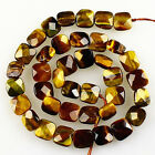 10x5mm Faceted tiger eye square loose beads 39pcs wholesale mix No.59726