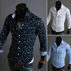 Fashion Mens Stylish Long Sleeve Slim Fit Casual Dress Shirts Formal Party Tops