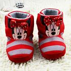 Baby boots girl red Minnie Snow winter Soft bottom Shoes 0-6 6-12 12-18 Months