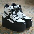 10cm Handmade Cyber Punk Multi Color Black White Vegan Hi Top Platform Sneaker