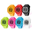 Lady Silicone Rubber Jelly Wrist Watch Waterproof Electronic Watches Candy Color