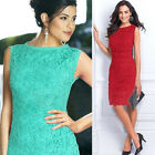 Fashion Women Summer Bandage Bodycon Lace Evening Sexy Party Cocktail MINI Dress