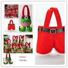 Lovely Santa Pants Spirit Candy Bags Child Trick-or-treat  Bag for Xmas Gifts S