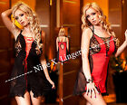 Nine X - Black & Red Open Back Babydoll Sexy Lingerie Womens Size S M L XL 2XL