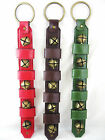 Christmas Metal Sleigh Jingle Bells Door Strap Hanger Color Choice NEW FREE SHIP