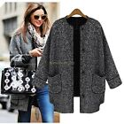 Hot Sell Women's Winter Warm Outerwear Single-breasted Trench Coat Long Jacket