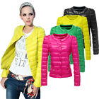Winter Womens Outwear Down Coat Button Short Slim Jacket Overcoat Candy Color