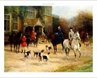"""HEYWOOD HARDY """"The Meet"""" HOUNDS horses side saddle COUNTRY house various SIZES"""
