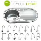1.0 Single Bowl Stainless Steel Kitchen Sink with Tap, Drainer & Waste 1061