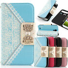 BLING MAGNETIC BOW FLIP PU LEATHER WALLET CASE COVER FOR SAMSUNG GALAXY S4 I9500