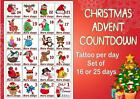 UNIQUE ADVENT Calendar TATTOO sticker PER DAY  16 or 25 DAYS LAST1 WEEK+ toys