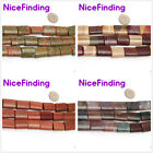 """15x20mm Rectangle Natural Stone Jewelry Making Beads Strand 15"""" Many Materials"""