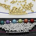 100/500 Pcs Cube Tibetan Silver Loose Beads For Jewelry Findings 3.5*3mm