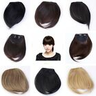 Pick Clip On Clip In Front Hair Bangs Fringe Hair Extension Straight 5 Color Hot