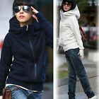 Hot Korean Women's Thin Zipper Long-Sleeve Hoodie Sweatshirt Jacket Outwear Coat