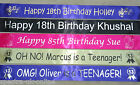 18TH,  21ST, ANY AGE, BIRTHDAY PARTY, PERSONALISED BANNER, FAST DESPATCH 1M long