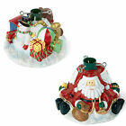28cm Polyresin Artificial Christmas Tree Stand - SANTA & SNOWMAN