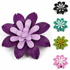 """Handmade"" Leather Flower Pin Brooch / Shoe Clip Gerbera 2.25 in 1 Pcs fca3"