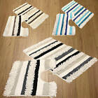 2 Piece Bath Mat Set Textured Cotton