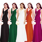 Womens Sleeveless V Neck Cystal Ruched Evening Cocktail Party Holiday Maxi Dress