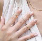 HOT 5pcs Midi Finger Ring Set Silver Gold Stack Above Knuckle Band Gift Rings K