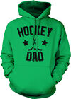 Hockey Dad Father Puck Ice Rink Helmet Team Supporter Son Kid Hoodie Pullover