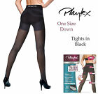 Playtex One Size Down Black Anti-Cellulite Slimming Tights New Sizes S M L XL