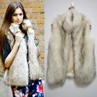 Warm Women Faux Fur Stand Collar Vest Sleeveless Waistcoat Coat Outwear SXXL A50
