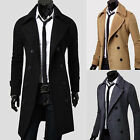 JR BEST SELL Mens Trench Coats Long Jackets comfy Shirts Top Double Breasted AU3