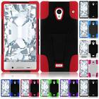 WHOLESALE LOT For Sharp Aquos Crystal TUFF Hybrid Armor T-STAND Cover Case