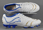 Puma (101917-01) Powercat 4.10 FG adults football boots - White/Blue