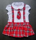 BABY GIRL DRESS, 3 Piece Designer Outfit, Red Party Dress, Ages 3-6, 6-9 Months