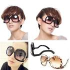 1X Unique Oversize Square Frame Carved Lens Up Side Down Women Sunglasses HYSG