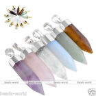 Bullet Faceted Gems Stone Pendulum Healing Point Chakra Pendant For Necklace DIY