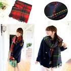 Chic Winter Lady Neck Tartan Check Long Shawl Scarf Wrap Stole Plaid Pashmina LG