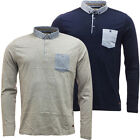Mens Long Sleeve Polos Brave Soul Polo Shirt New S M L XL
