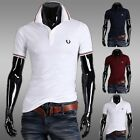 Men's Slim Fit Casual Polo Short Sleeve Solid Shirts T-Shirts Tops & Tees