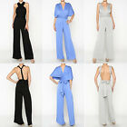INFINITY Convertible Knit Solid Jumpsuit Bodycon Romper Overalls Palazzo M-XL