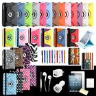 360 Rotating Leather Smart Case Cover Stand Sleep Wake For iPad Mini 3 2 1 Gen