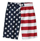 AMERICAN FLAG USA Patriotic Pool Beach Swim Board Short Trunks S M L XL 2X 4X 5X