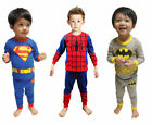 Baby Boy Kids Children Clothing Set Pajamas Sleepwear T-shirt Top Pants Pijamas