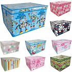 Large Storage Box Chest Flatpack Kids Toy Storage Trunk Jumbo Childrens