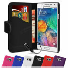 Book Flip Wallet Leather Case Cover & Screen Protector For SAMSUNG Galaxy Alpha