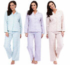 Ladies Animal Print Flannel Pyjama Set - Several Designs and Sizes Available