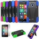 Phone Case For Nokia Lumia 530 Rugged Cover Kickstand + Screen Protector