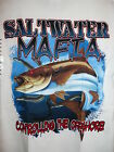 Saltwater Mafia White Cotton Pocket Tee Shirt S/S Cobia Controlling the Offshore