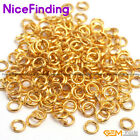 Silver Gold Plated Open Split Jump Rings Connectors Jewelry Findings Size Pick